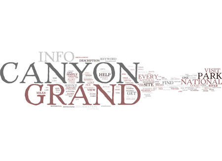 GRAND CANYON INFO Text Background Word Cloud Concept Illusztráció