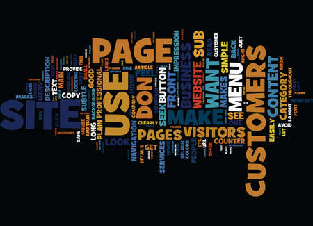 YOUR BUSINESS WEBSITE PLAIN AND SIMPLE Text Background word cloud concept