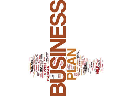 YOUR BUSINESS PLAN WILL BECOME YOUR PARTNER Text Background Word Cloud Concept