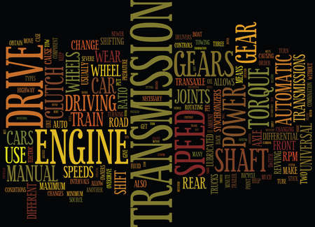 YOUR DRIVE TRAIN EXPLAINED Text Background word cloud concept