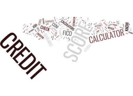Z CREDIT SCORE CALCULATOR Text Background Word Cloud Concept