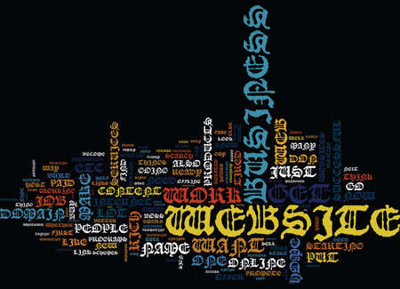 YOUR OWN WEB BASED HOME BUSINESS Text Background Word Cloud Concept
