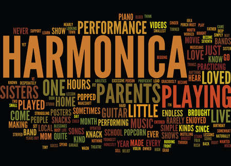 GRAB A HARMONICA Text Background Word Cloud Concept