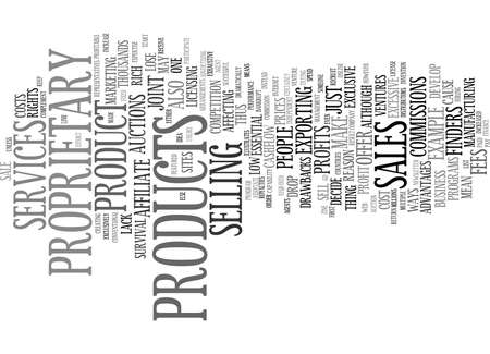 YOUR OWN PRODUCTS CAN MAKE YOU RICH Text Background Word Cloud Concept