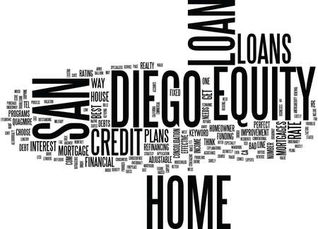 Z SAN DIEGO HOME EQUITY LOAN Text Background Word Cloud Concept Illusztráció