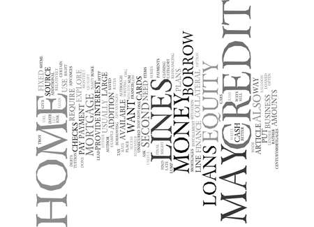 YOUR HOME EQUITY CREDIT LINES Text Background Word Cloud Concept