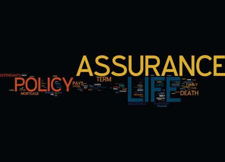 LIFE ASSURANCE Text Background Word Cloud Concept Фото со стока - 82597000