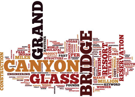 GRAND CANYON GLASS BRIDGE Text Background Word Cloud Concept