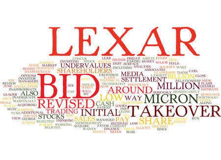 LEXAR BID IS INADEQUATE Text Background Word Cloud Concept  イラスト・ベクター素材