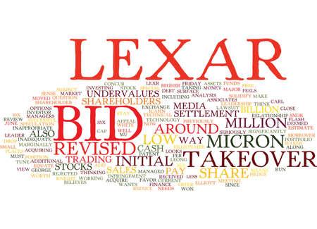 レキサーの入札が不十分なテキスト背景単語雲概念です。