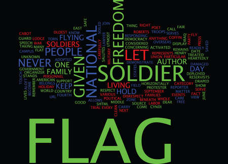 LET S FLY OUR FLAG Text Background Word Cloud Concept