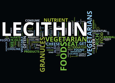 LECITHIN GRANULES VEGETARIAN Text Background Word Cloud Concept