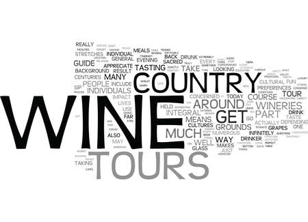 YOUR GUIDE TO WINE COUNTRY TOURS Text Background Word Cloud Concept Stock Vector - 82599537