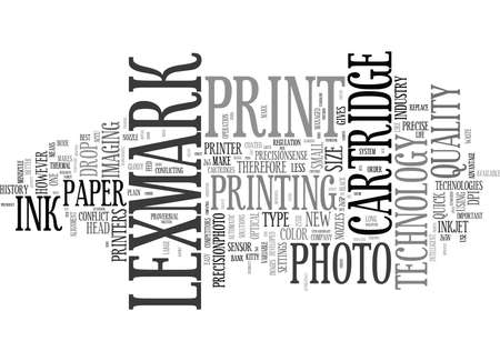 LEXMARK RELATIVELY NEW TO THE MARKET BUT ALREADY ON TOP Text Background Word Cloud Concept