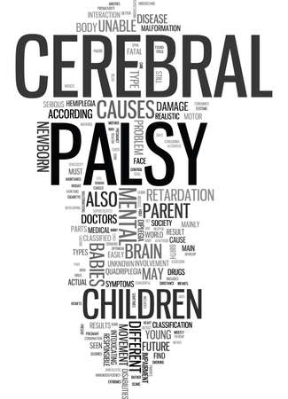 retardation: YOUR HELPFUL GUIDE TO CEREBRAL PALSY Text Background Word Cloud Concept