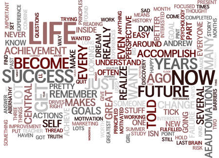YOUR PAST AND PRESENT HOLD KEY TO YOUR FUTURE Text Background Word Cloud Concept