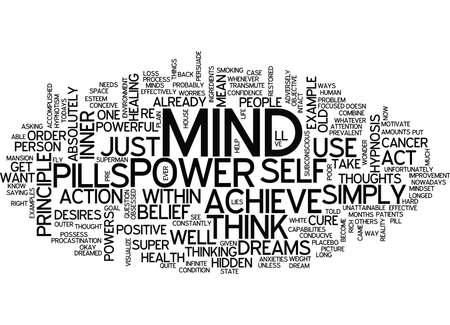 YOUR MIND AND ITS SUPER POWERS HIDDEN WITHIN Text Background Word Cloud Concept