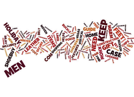 YOUR HOLIDAY GIFT GUIDE FOR MEN Text Background Word Cloud Concept Illustration