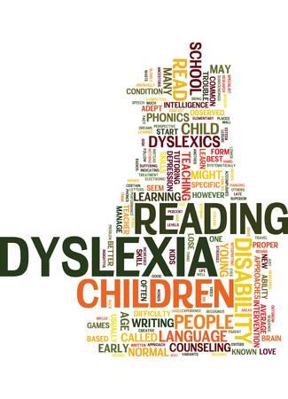 あなたの子供の難読症状者がテキスト背景単語クラウド コンセプトに読み取られるでしょう  イラスト・ベクター素材