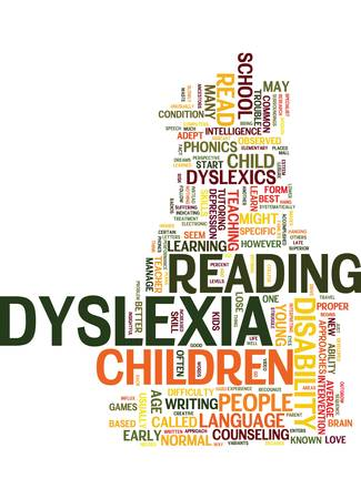 YOUR KIDS MIGHT BE DYSLEXICS READ ON Text Background Word Cloud Concept