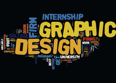GRAPHIC DESIGN FIRM Text Background Word Cloud Concept