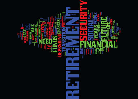 YOUR FINANCIAL FUTURE IS IN YOUR HANDS Text Background Word Cloud Concept