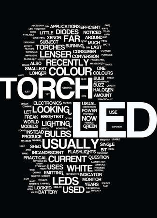 LED TORCHES Text - Word Cloud Concept