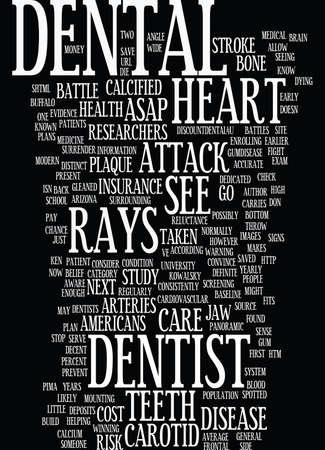 あなたの歯科医はあなた次心臓発作本文背景単語雲概念を停止可能性があります。