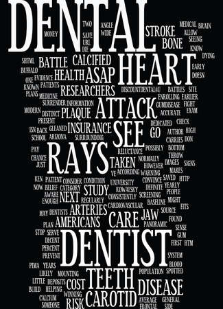 YOUR DENTIST MIGHT STOP YOUR NEXT HEART ATTACK Text Background Word Cloud Concept