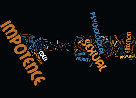 impotence: LET S GET PHYSICAL Text Background Word Cloud Concept