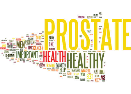 YOUR PROSTATE IS YOUR WEAKEST LINK Text Background Word Cloud Concept Ilustração