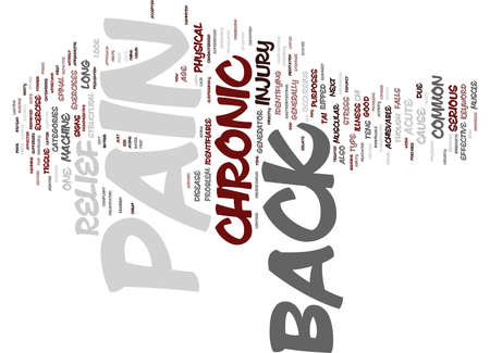 Z CHRONIC BACK PAIN RELIEF Text Background Word Cloud Concept Stock fotó - 82598354