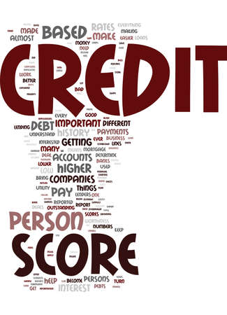 YOUR CREDIT SCORE IT IS IMPORTANT YOU UNDERSTAND IT Text Background Word Cloud Concept Ilustrace