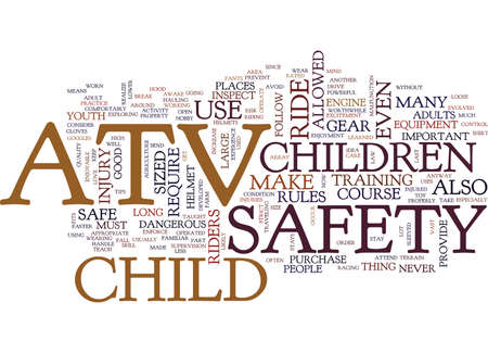 YOUTH ATV SAFETY Text Background Word Cloud Concept
