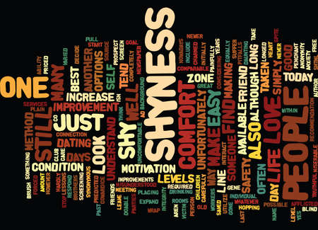 LESSONS IN LOVE FOR THE SHY AT HEART Text Background Word Cloud Concept