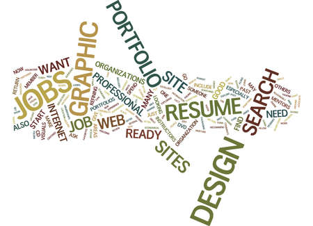 GRAPHIC DESIGN JOBS Text Background Word Cloud Concept