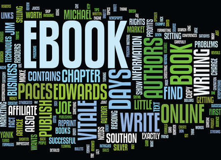 YOUR OWN EBOOK IN DAYS Text Background Word Cloud Concept