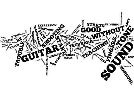 YOUR PERSONAL TONE GENERATOR Text Background Word Cloud Concept Illustration