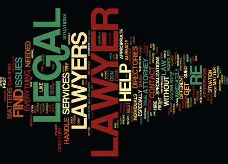 LEGAL HELP LAWYERS Text Background Word Cloud Concept 向量圖像