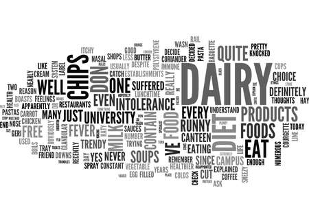 LIFE AFTER DAIRY Text Background Word Cloud Concept
