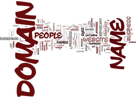 YOUR DOMAIN JUST THE FACTS Text Background Word Cloud Concept