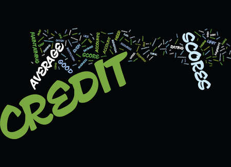 Z AVERAGE CREDIT SCORES Text Background Word Cloud Concept Illustration