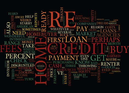 YOUR FIRST HOME LOAN WHAT YOU NEED TO KNOW Text Background Word Cloud Concept Çizim