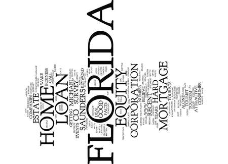 reside: Z FLORIDA HOME EQUITY LOAN Text Background Word Cloud Concept