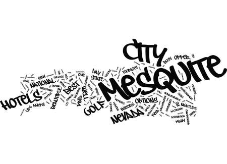 YOUR GUIDE TO POPULAR MESQUITE HOTELS Text Background Word Cloud Concept