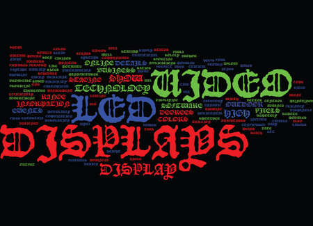 LED VIDEO DISPLAYS Text Background Word Cloud Concept