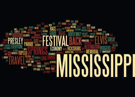 LET S TRAVEL BACK TO MISSISSIPPI Text Background Word Cloud Concept