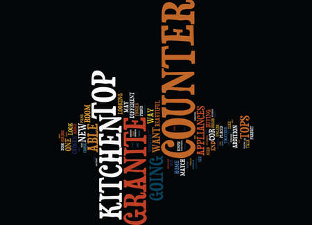 GRANITE COUNTER TOPS PART II Text Background Word Cloud Concept