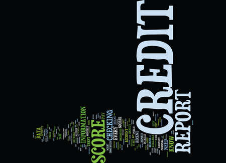 checking accounts: Z CREDIT REPORT AND SCORE Text Background Word Cloud Concept Illustration