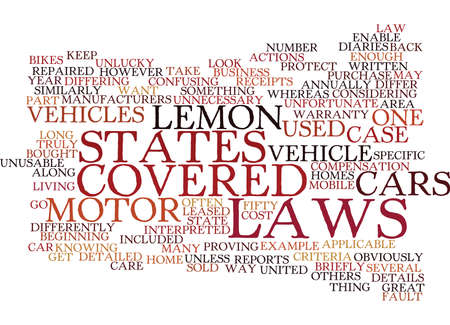 LEMON LAWS DIFFER Text Background Word Cloud Concept Banco de Imagens - 82598360